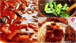ചോറിന്റെ കൂടെ കഴിക്കാൻ ഇതാ സൂപ്പർ ടേസ്റ്റിൽ ഒരു കറി-vendakka chemmeen curry-okra curry