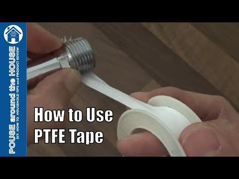 How To Use PTFE Tape -Teflon Tape Tutorial. Plumbing For Beginners!