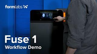 SLS 3D Printing Workflow - The Fuse 1 Demo