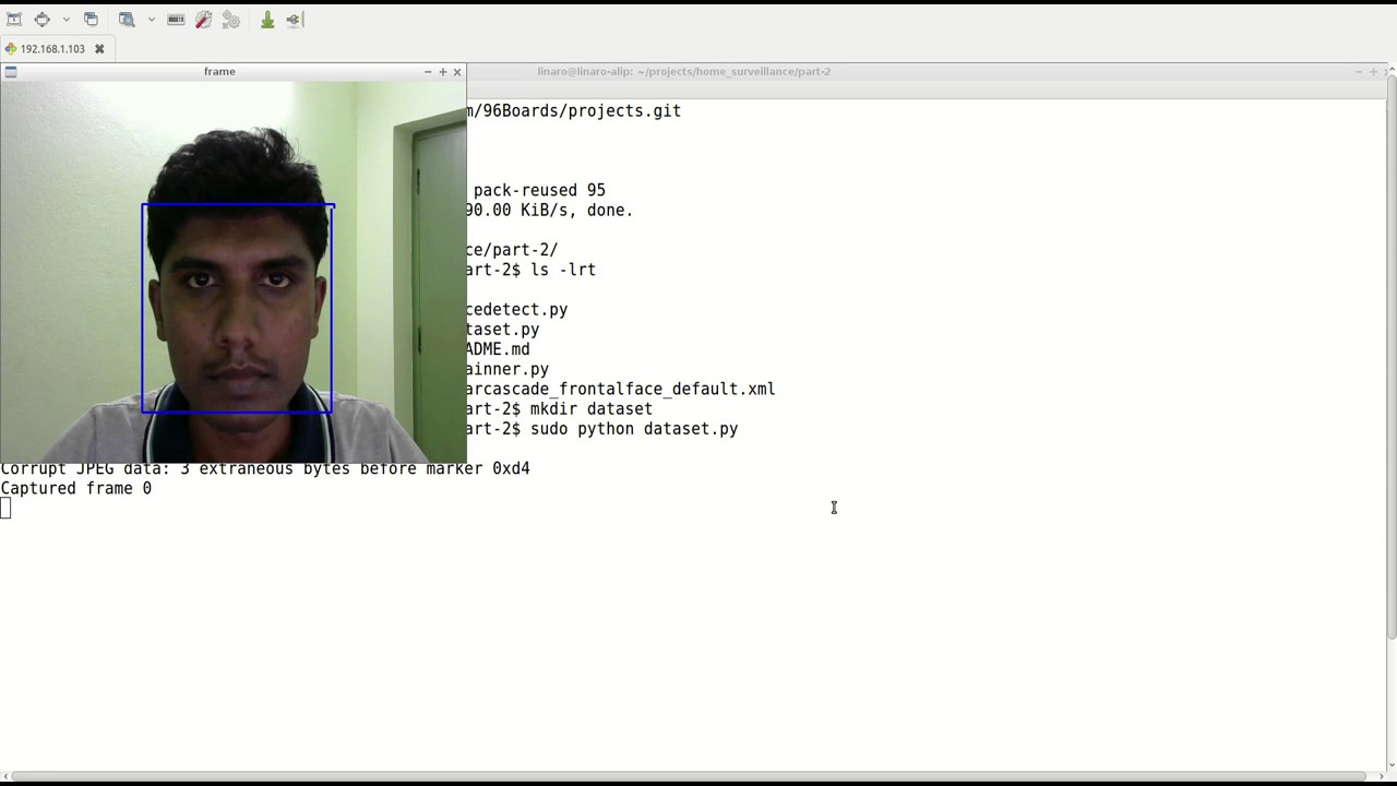 Part 2 - Facial recognition using OpenCV on 96Boards - 96Boards