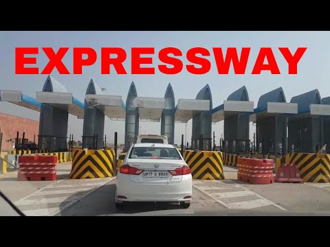AGRA LUCKNOW EXPRESSWAY   TOLL PLAZA   6-LANE HIGHWAY