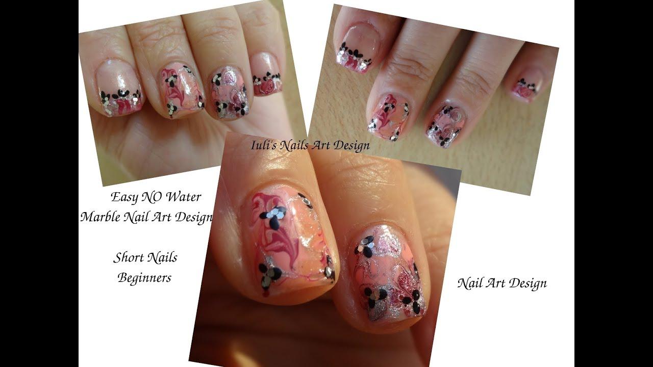 Marble nail art design no water no brush level beginners live marble nail art design no water no brush level beginners live tutorial short nails prinsesfo Choice Image