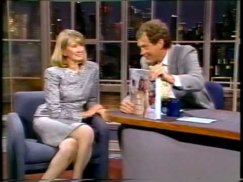 Martha Stewart - first time on David Letterman 1989 - weddings