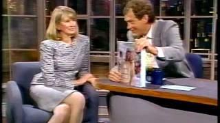 Martha Stewart - first time on David Letterman 1989 - weddings
