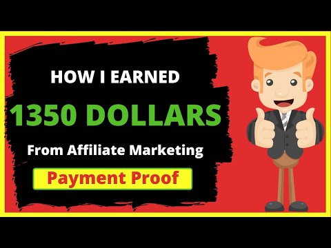 How I Earned 1350 Dollars From Affiliate Marketing in 1 Month | Earn Money With Affiliate Marketing thumbnail