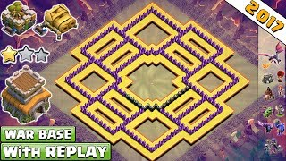 Download lagu BEST! NEW Anti 2 Star Town Hall 8 (Th8) Clan-War Base 2017 With Replay Proof Vs Anti Dragon