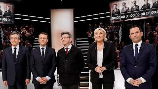 Fransa'da cumhurbaşkanı adayları açık oturumda ilk sınavını verdi