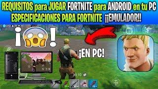 ¡¡ESTOS SERÍAN los REQUISITOS que PEDIRÁ el EMULADOR de FORTNITE MOBILE para PC!!