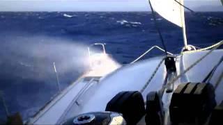 fast sailing on catamaran wind 40 45 knots lagoon 38 atlas