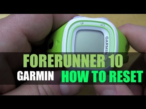 garmin forerunner 10 how to reset youtube. Black Bedroom Furniture Sets. Home Design Ideas