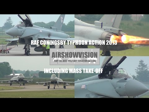 RAF CONINGSBY TYPHOON ACTION - JUNE 21st 2013 (airshowvision)