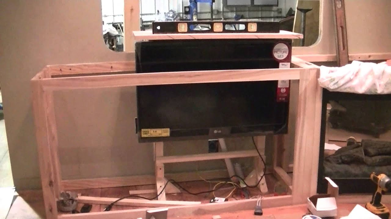 tv lift part 2 for my 5th wheel camper project youtube. Black Bedroom Furniture Sets. Home Design Ideas