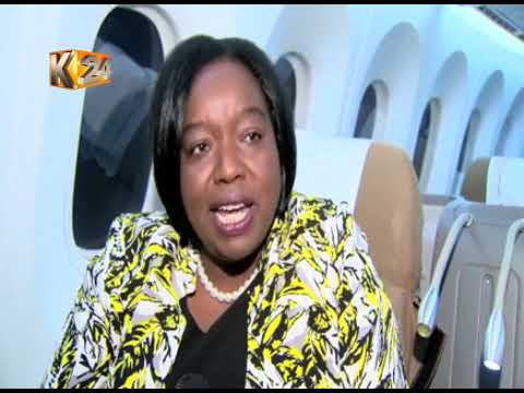 Maiden KQ direct flight lands at the JFK airport in New York