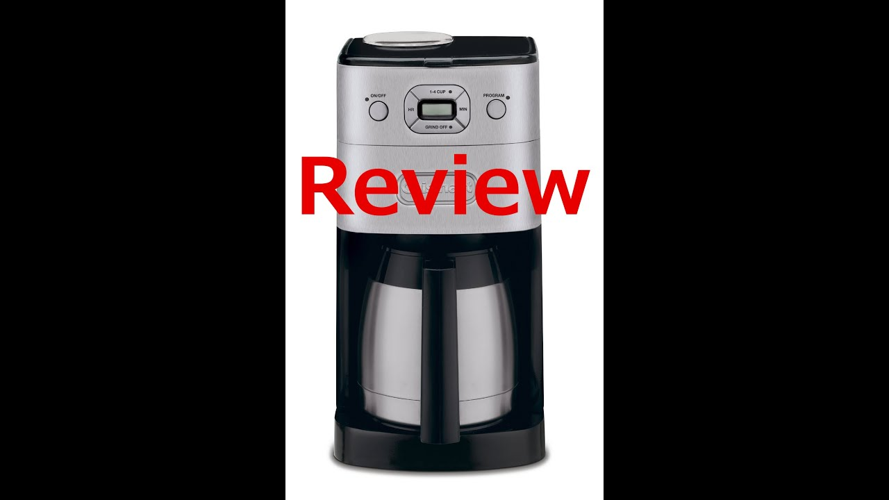 Buy Cuisinart grind and brew 10 cup coffee maker - You Save:USD 136.00 (58%) - YouTube