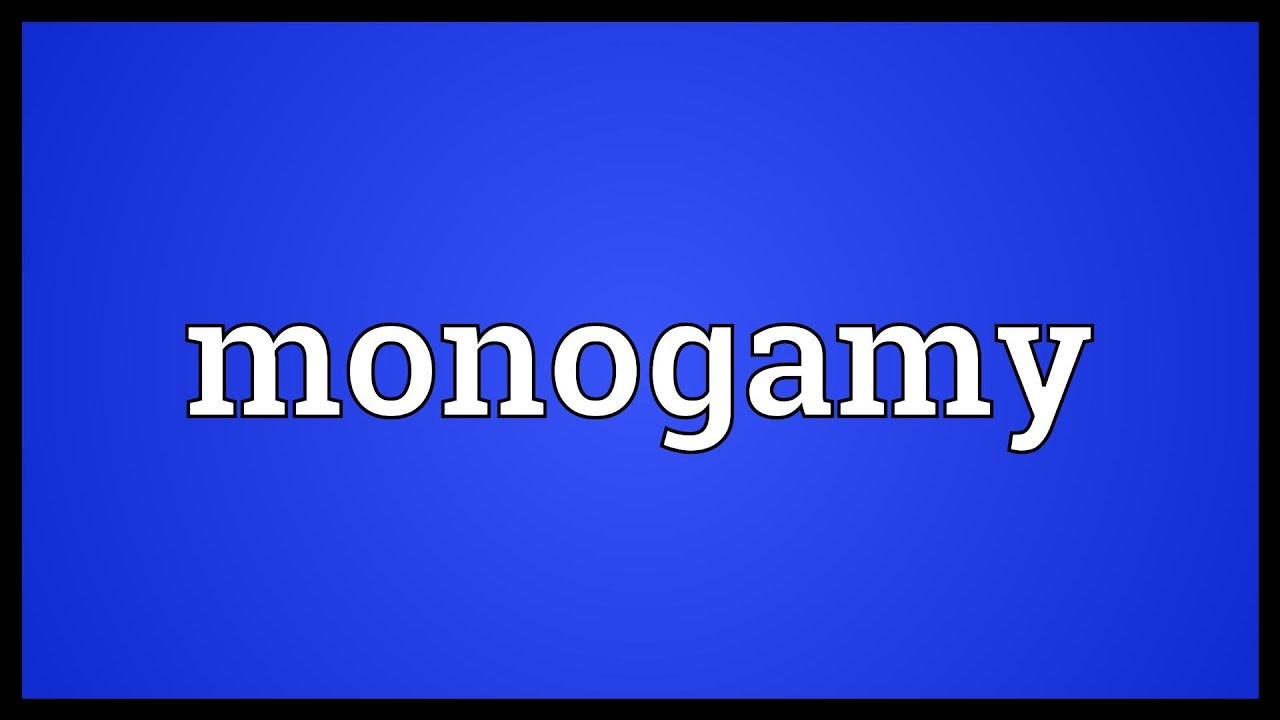 Manogamy meaning
