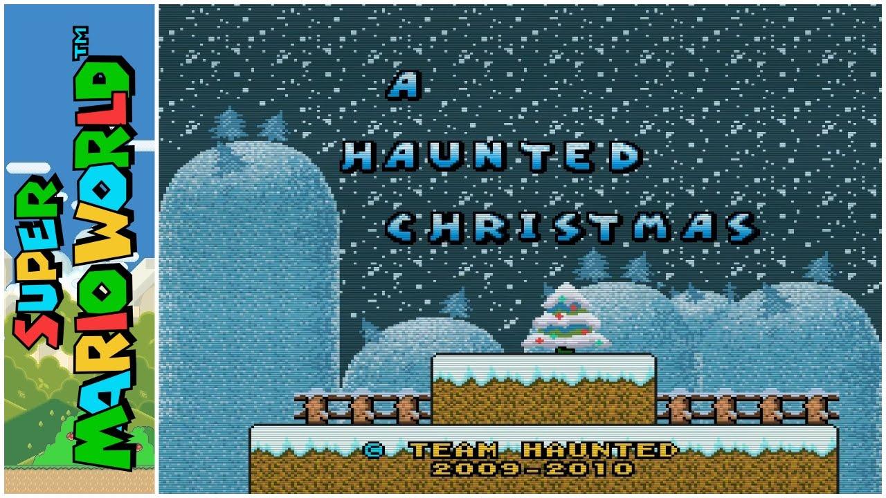 Super Mario World Christmas.A Haunted Christmas 2010 Super Mario World Hack Youtube