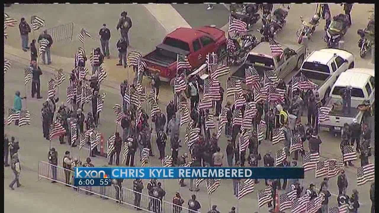 Chris Kyle's funeral procession to take place Tuesday