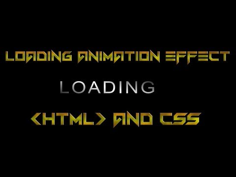 Loading Animation Effect Using By Html And Css