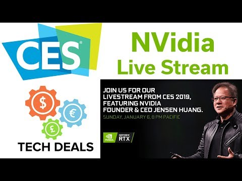 CES 2019 - NVidia Live Stream - Watch with Tech & Rogue