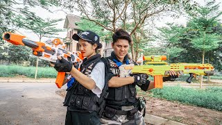 LTT-Nerf-War-Female-Police-SEAL-X-Warriors-Nerf-Guns-Fight-Criminal-Group-Dr-Mundo-Rescue-Victims