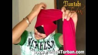 Learn Turban Traning Online Ferozpuria Tying Turban with Closed Eyes Punjabi Turban.com