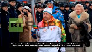 Russia: Oldest torchbearer in Olympic history lights up Novosibirsk