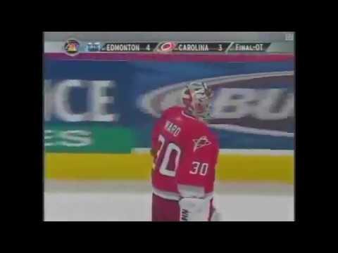 Fernando Pisani OT Goal vs Hurricanes 2006 Stanley Cup Final Game 5 - NBC Broadcast