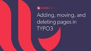 Adding, moving, and deleting pages in TYPO3