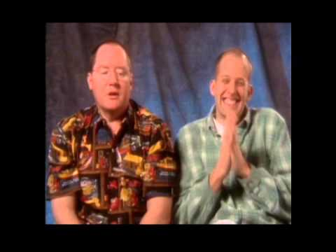 Monsters, inc  John Lasseter Executive Producer left Pete Docter Director right