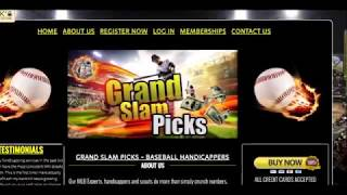 Baseball Betting Systems Review!!!   Grand Slam Picks Handicapping Service!!! Brief Review!!!