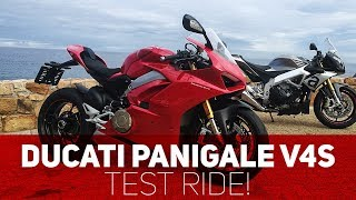 Ducati Panigale V4s Test Ride!