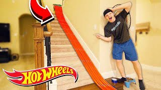 Download 500FT HOT WHEELS TRACK AROUND MY HOUSE! Mp3 and Videos