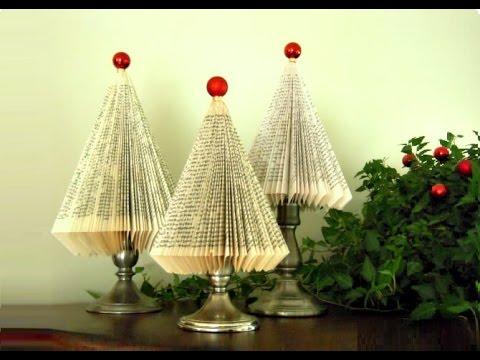 Albero Di Natale Youtube.Albero Di Natale Con Un Libro Idee Per Natale Youtube