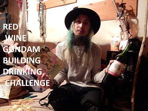 RED WINE GUNDAM BUILDING DRINKING CHALLENGE