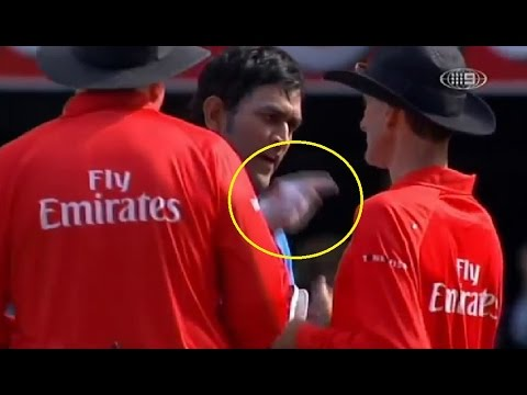 YO YO GUJARATI Video Dhoni Arguing With showing finger to Umpire