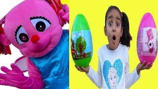 Esma and Asya Pretend Play Surprise Egg Missing fun kid video