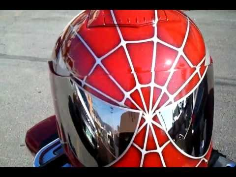 Red spiderman helmet youtube - Spider man moto ...