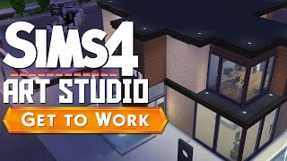 Art And Photo Studio Speed Build | The Sims 4 Get To Work