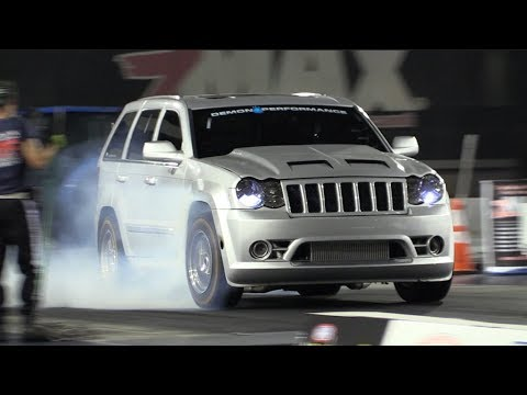 Twin Turbo SRT8 Jeep Runs Over Every Truck on the Premises! 🐌 🐌