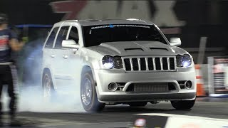 Twin Turbo SRT8 Jeep Runs Over Every Truck on the Premises! 🐌 🐌 Video