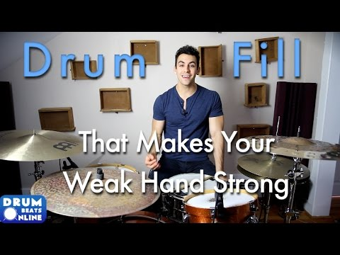 Amazing Drum Fill That Makes Your Weak Hand Strong - Drum Lesson | Drum Beat Online