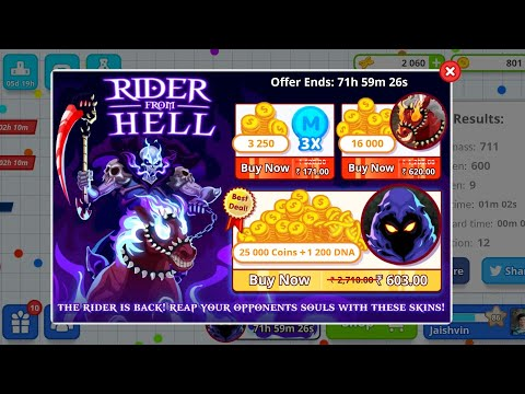 NEW AGAR. IO SKINS JUNE 2018 RIDER FROM HELL&  SKIN O MATIC