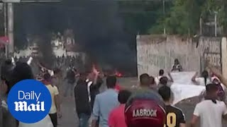 Venezuela's National Guard has fired tear gas on residents