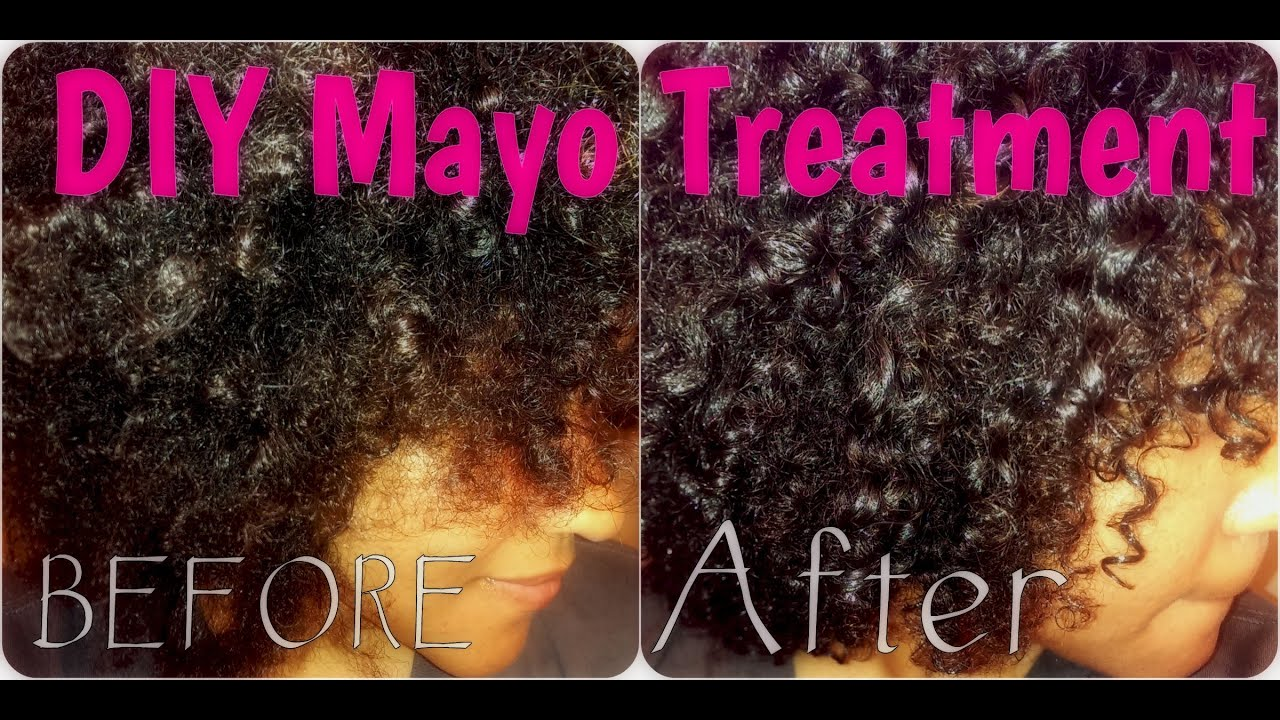 Mayo Deep Conditioning Protein Treatment On Natural Curly