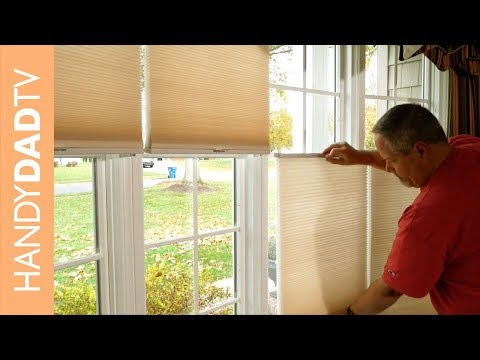 Cellular Shades on a Bay Window