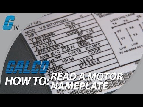 How to Read Motor Nameplate Data