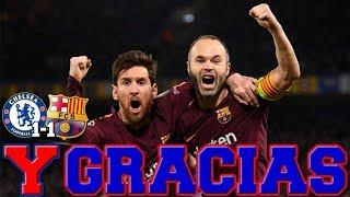 MESSI SALVA AL BARÇA EN STAMFORD BRIDGE | Chelsea 1-1 Barcelona | Champions League