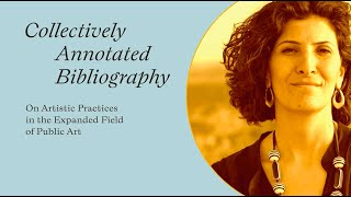 "Sandi Hilal - Video Statement for ""Collectively Annotated Bibliography"""