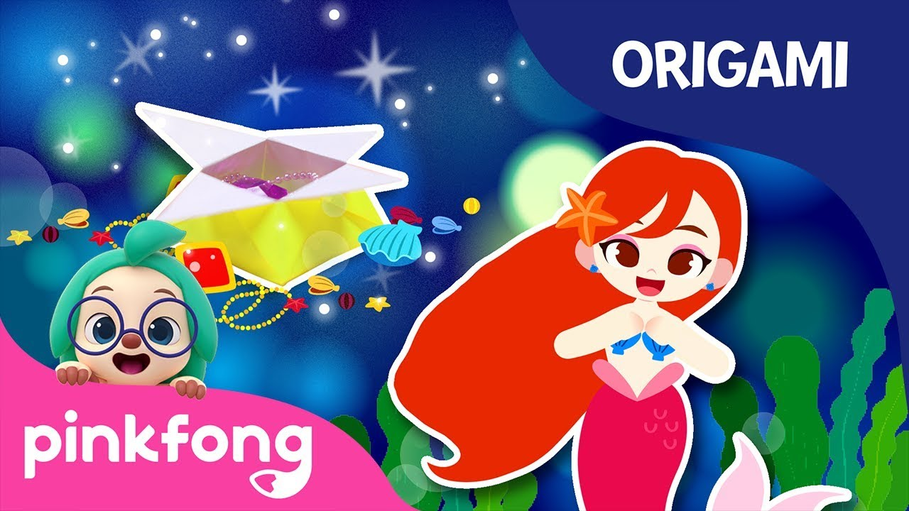 The Little Mermaid's Jewel Box | Pinkfong Origami | Origami and Songs | Pinkfong Crafts for Children
