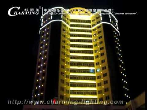 building facade lighting led pixel lights led digital tube lights running effect building facade lighting